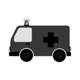 icône de véhicule de secours d'ambulance Photographie stock libre de droits