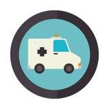 icône de véhicule de secours d'ambulance Photo stock