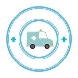 icône de véhicule de secours d'ambulance Image libre de droits