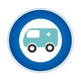 icône de véhicule de secours d'ambulance Photos stock