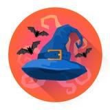 Icône de vacances de Halloween de costume de chapeau de sorcière illustration libre de droits