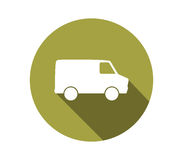 Icône de Van truck Images stock