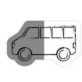 Icône de Van vehicle Image libre de droits