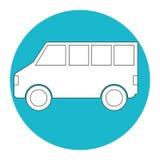 Icône de Van vehicle Photos libres de droits