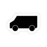 Icône de Van vehicle Image stock