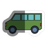 Icône de Van vehicle Photo stock