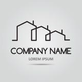 Icône de vecteur avec des bâtiments Photo libre de droits