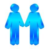 Icône avec deux mâles Images libres de droits