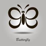 Icône de vecteur avec le papillon images stock
