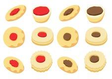 Ic?ne de vecteur de biscuits d'isolement sur le vecteur blanc d'illustration de fond illustration stock