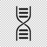Icône de vecteur d'ADN Illustration plate de molécule de médecine Image stock