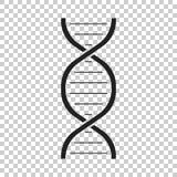 Icône de vecteur d'ADN Illustration plate de molécule de médecine Images libres de droits