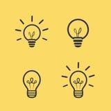 Icône de vecteur d'ampoule Image stock