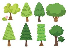 Ic?ne de vecteur d'arbre d'isolement sur le fond blanc, concept de logo d'arbre illustration libre de droits