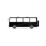 Icône de vecteur d'autobus avec la toile d'araignée Images libres de droits