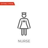 Icône de vecteur d'infirmière Photo stock