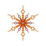 Icône de vecteur d'isolement par flocon de neige d'hiver Images stock