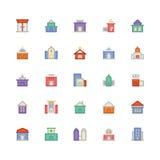 Icône 1 de vecteur de bâtiment et de meubles illustration stock