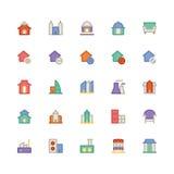 Icône 3 de vecteur de bâtiment et de meubles illustration stock