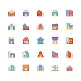 Icône 2 de vecteur de bâtiment et de meubles illustration libre de droits