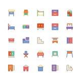 Icône 9 de vecteur de bâtiment et de meubles illustration libre de droits