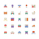 Icône 8 de vecteur de bâtiment et de meubles illustration stock