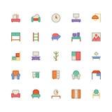 Icône 7 de vecteur de bâtiment et de meubles illustration de vecteur