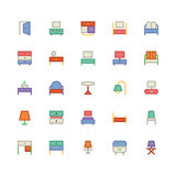 Icône 6 de vecteur de bâtiment et de meubles illustration libre de droits