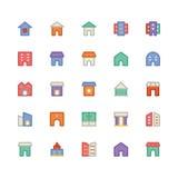 Icône 10 de vecteur de bâtiment et de meubles illustration libre de droits