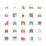 Icône 11 de vecteur de bâtiment et de meubles illustration de vecteur