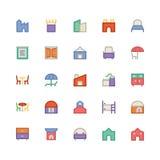 Icône 12 de vecteur de bâtiment et de meubles illustration libre de droits
