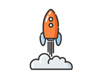 Icône de vecteur de balancier de l'espace Photos stock