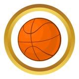 Icône de vecteur de boule de basket-ball illustration libre de droits
