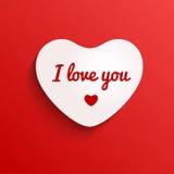 Icône de vecteur de coeur de jour de valentines Photo libre de droits