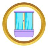Icône de vecteur de compartiment de douche illustration stock