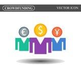 Icône de vecteur de Crowdfunding Images libres de droits