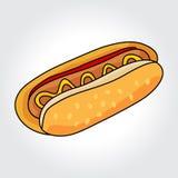 Icône de vecteur de hot-dog Photographie stock libre de droits