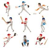 Icône de vecteur de joueur de baseball Photos stock