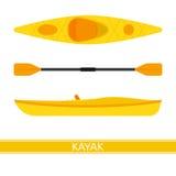 Icône de vecteur de kayak Images stock
