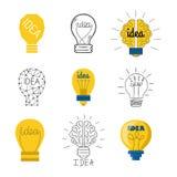 Icône de vecteur de lampe d'idée illustration libre de droits