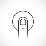 Icône de vecteur de lecteur d'empreintes digitales illustration de vecteur