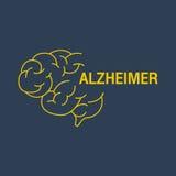 Icône de vecteur de logo d'ALZHEIMER Images libres de droits