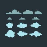 Icône de vecteur de nuage Photo stock