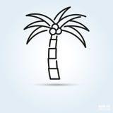 Icône de vecteur de palmier illustration de vecteur