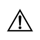 Icône de vecteur de panneau d'avertissement Photo stock
