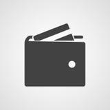 Icône de vecteur de portefeuille photographie stock