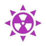 Icône de vecteur de rayonnement ultraviolet illustration libre de droits