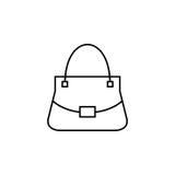 Icône de vecteur de sac de femme illustration stock