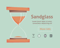 Icône de vecteur de Sandglass ENV 10 Réglez l'horloge illustration de vecteur