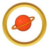 Icône de vecteur de Saturn illustration stock